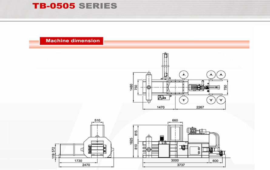 Machine Dimension TB-0505 Series