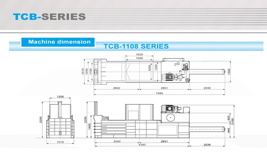 Machine Dimension TCB Series