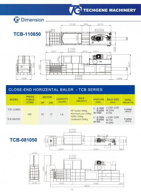 Close-End Baler TCB Series