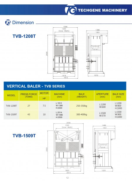 Vertical Waste Baling Press TVB Series